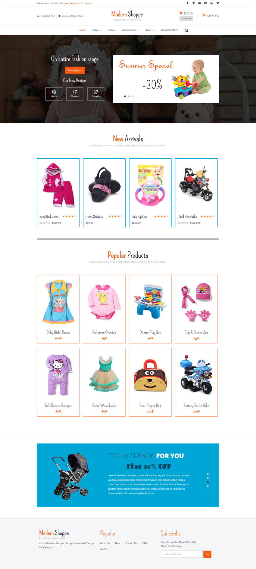 Modern shoppe a ecommerce. Bootstrap responsive clipart