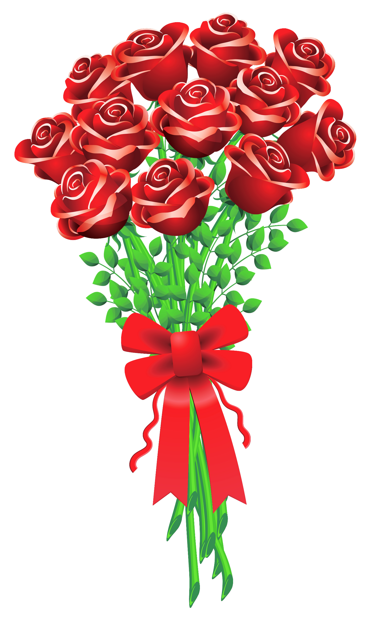 Boque clipart png Roses rose bouquet cartoon clipart clipart kid | virágok | Flower ... png