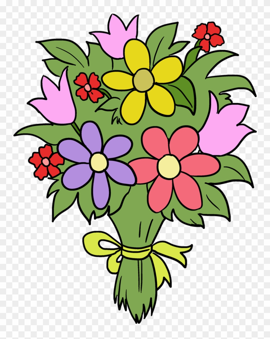 Boque clipart image free library Bouquet Clipart Fun Flower - Flower Bouquet Drawing Easy - Png ... image free library