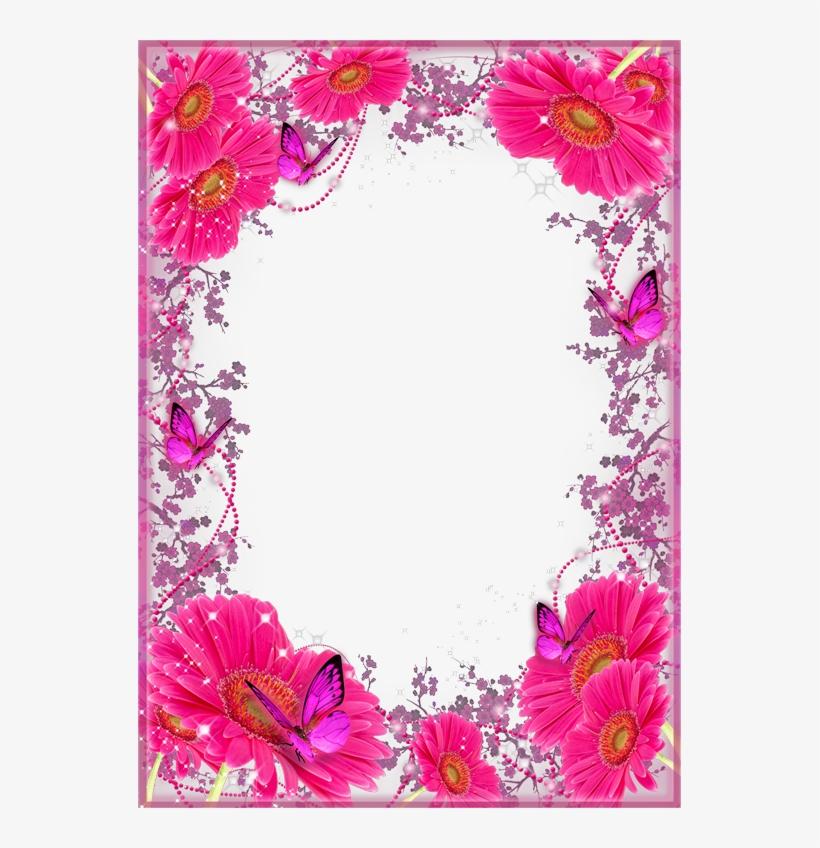 Borde de flores clipart banner free stock Borde Con Mariposas Borders And Frames, Borders For - Bordes De ... banner free stock
