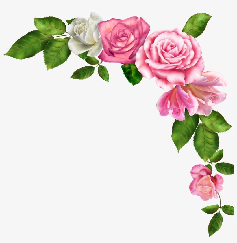 Borde de flores clipart freeuse Borders And Frames Pink Flowers Clip Art - Bordes De Flores Png PNG ... freeuse