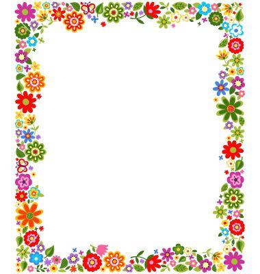 Borde de flores clipart image free library Borde de flores | materiais de trabalho | Frame, Frame background ... image free library