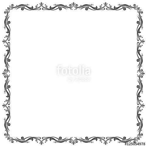 Border batik clipart clipart royalty free library Frame Batik and Abstract Border\