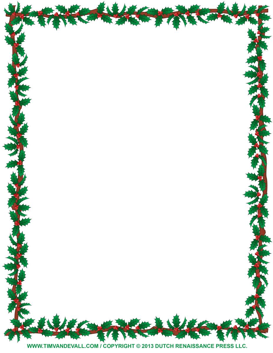 Christmas card borders clipart