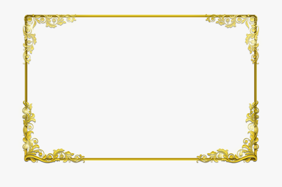 Clipart borderwith transparent background picture Gold Border Clipart - Certificate Border Transparent Background ... picture