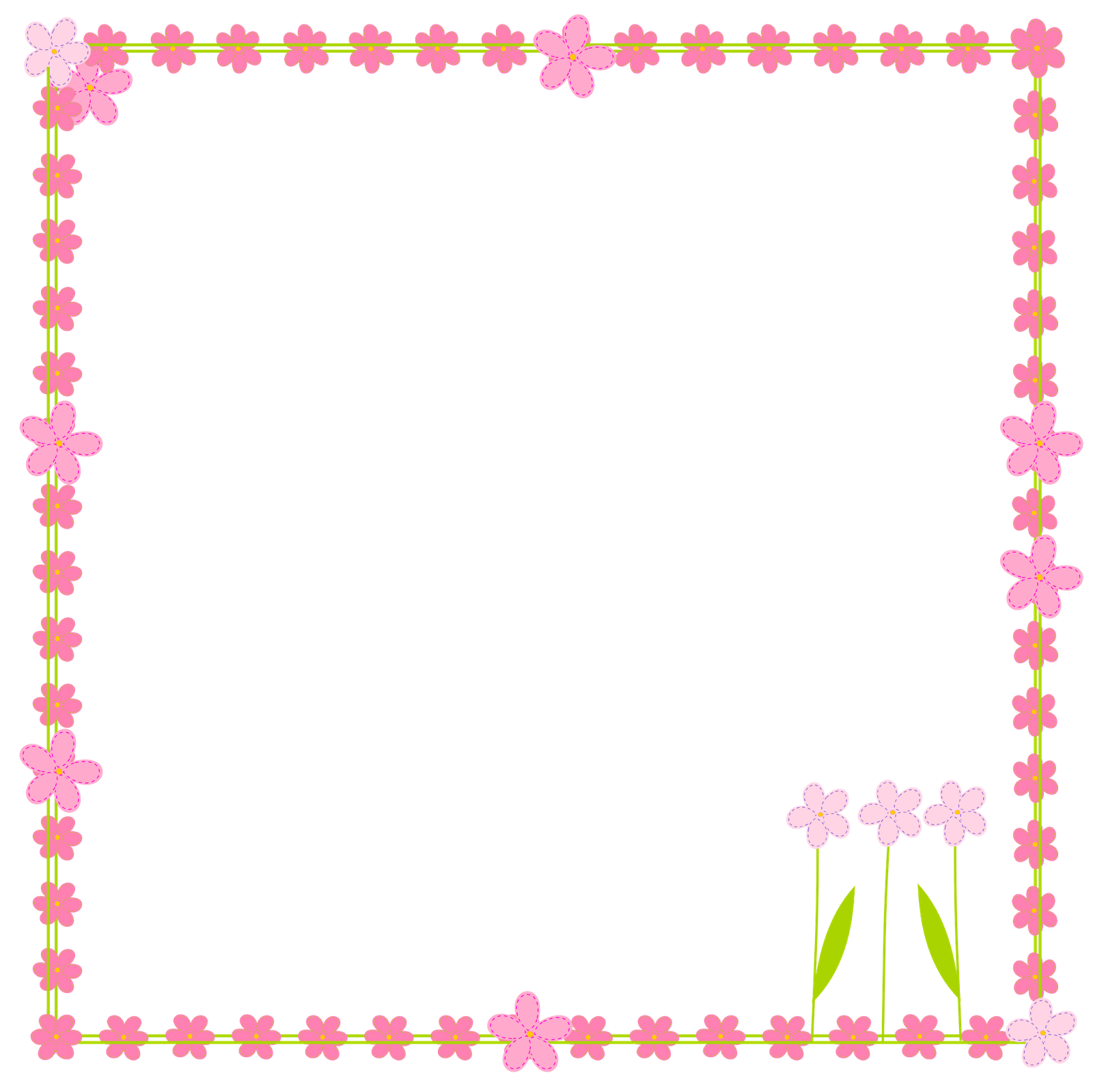 Free birthday crown clipart banner library stock Pink Flower Border Clip Art | Clipart Panda - Free Clipart Images banner library stock
