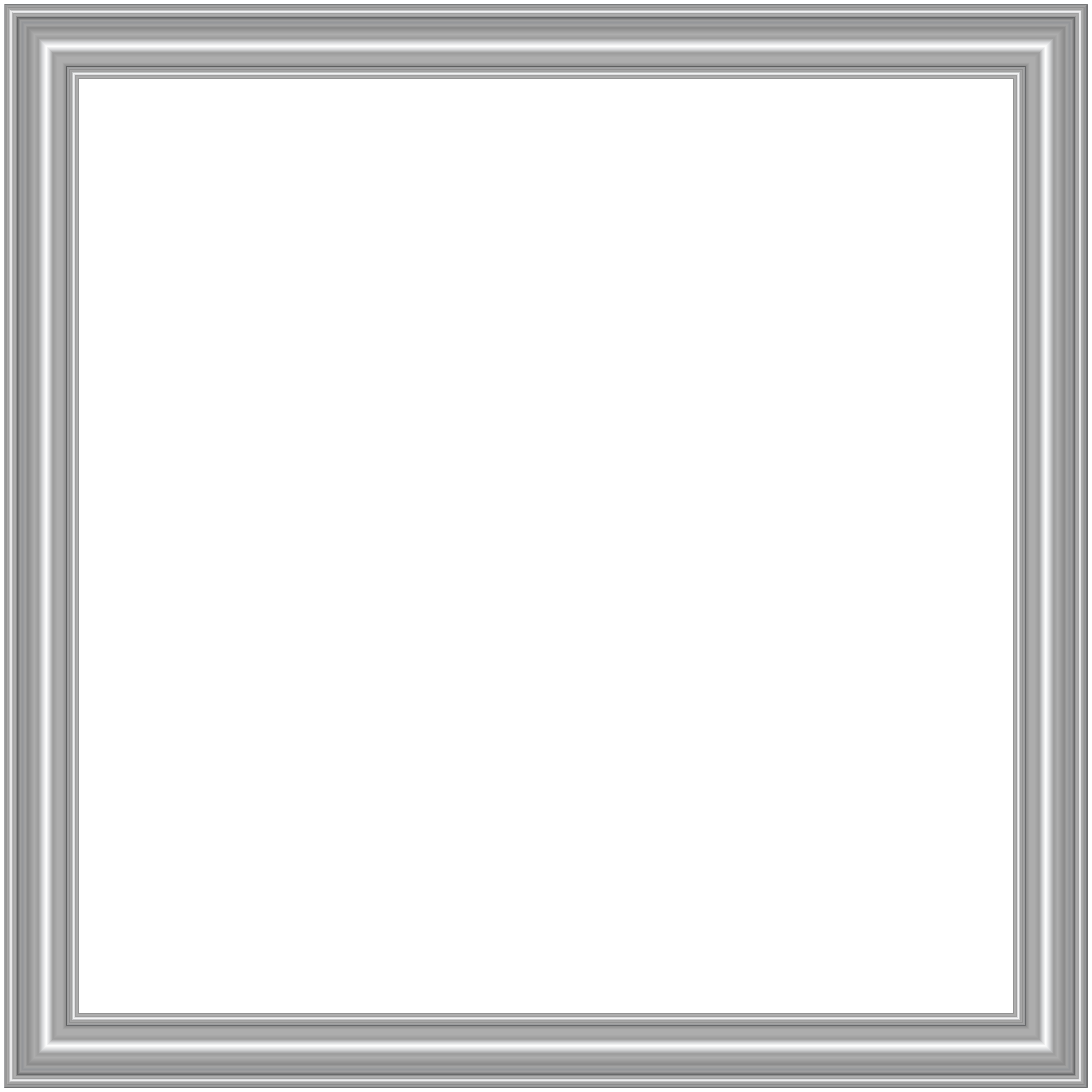 Border clipart in silver graphic royalty free download Silver Border Frame Transparent PNG Image | Gallery Yopriceville ... graphic royalty free download