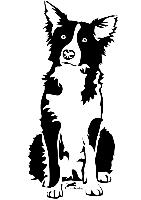 Free border collie clipart vector library stock Free Border Collie Outline, Download Free Clip Art, Free Clip Art on ... vector library stock