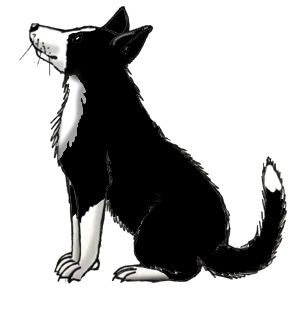 Herding border collie silhouette black and white clipart jpg free Farm Silhouette Clip Art | Farm Dog (Border Collie) -- Exploring ... jpg free