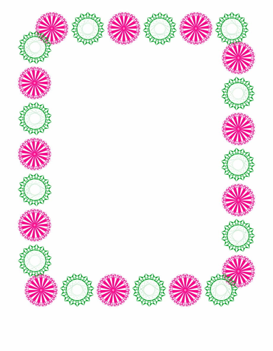 Border design clipart images jpg free download Pink Clipart Border - Simple Flower Border Design, Transparent Png ... jpg free download
