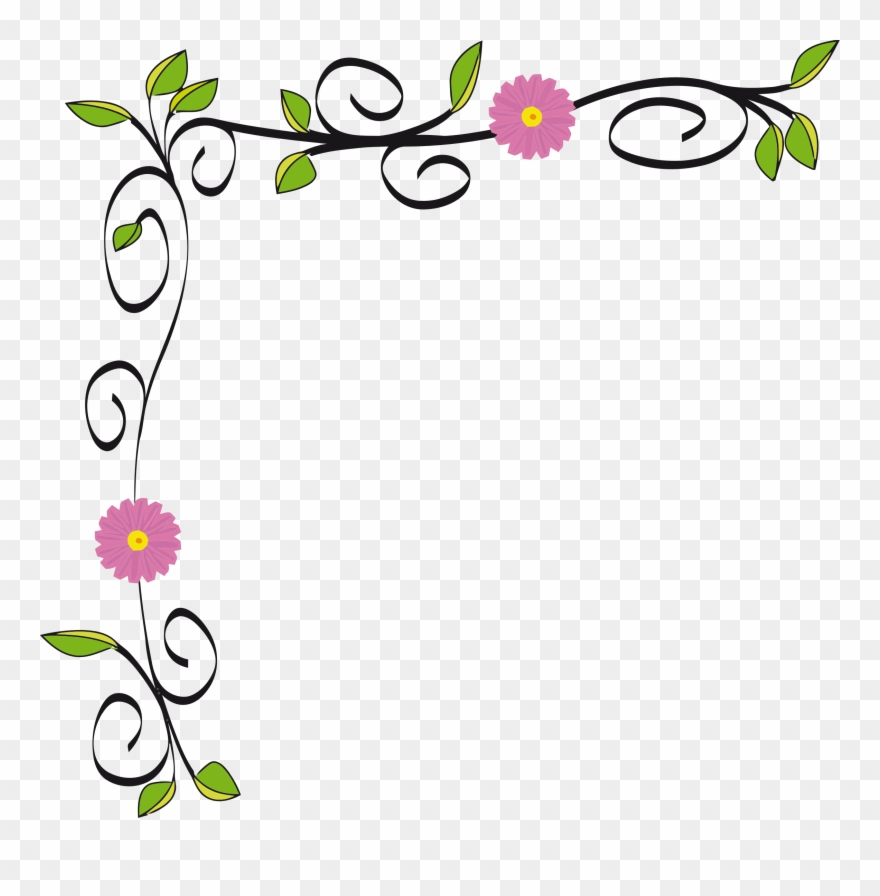 Border design clipart images svg free stock Graphic Free Stock Floral Border Vectorized By Gdj - Flower Border ... svg free stock