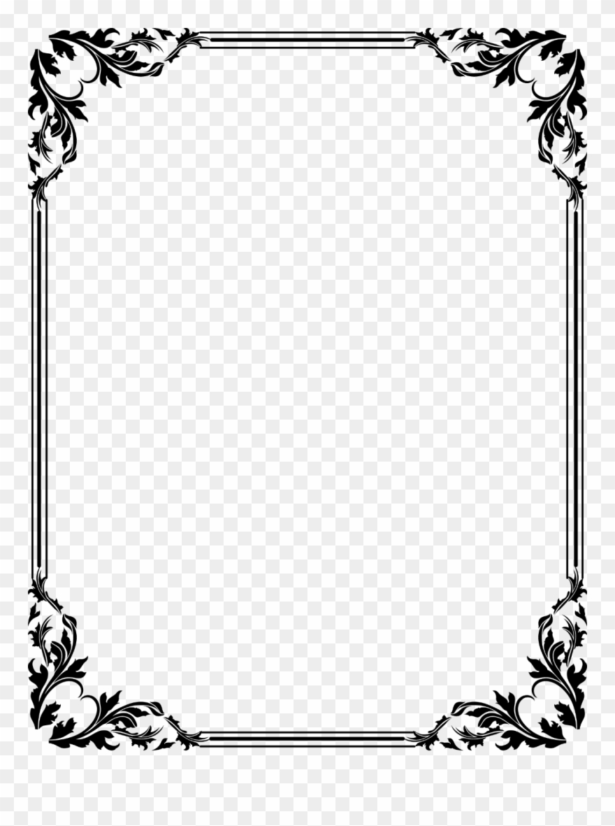 Clipart frames for photos svg black and white download Free Download Clip Art Border Clipart Frames - Border Certificate ... svg black and white download