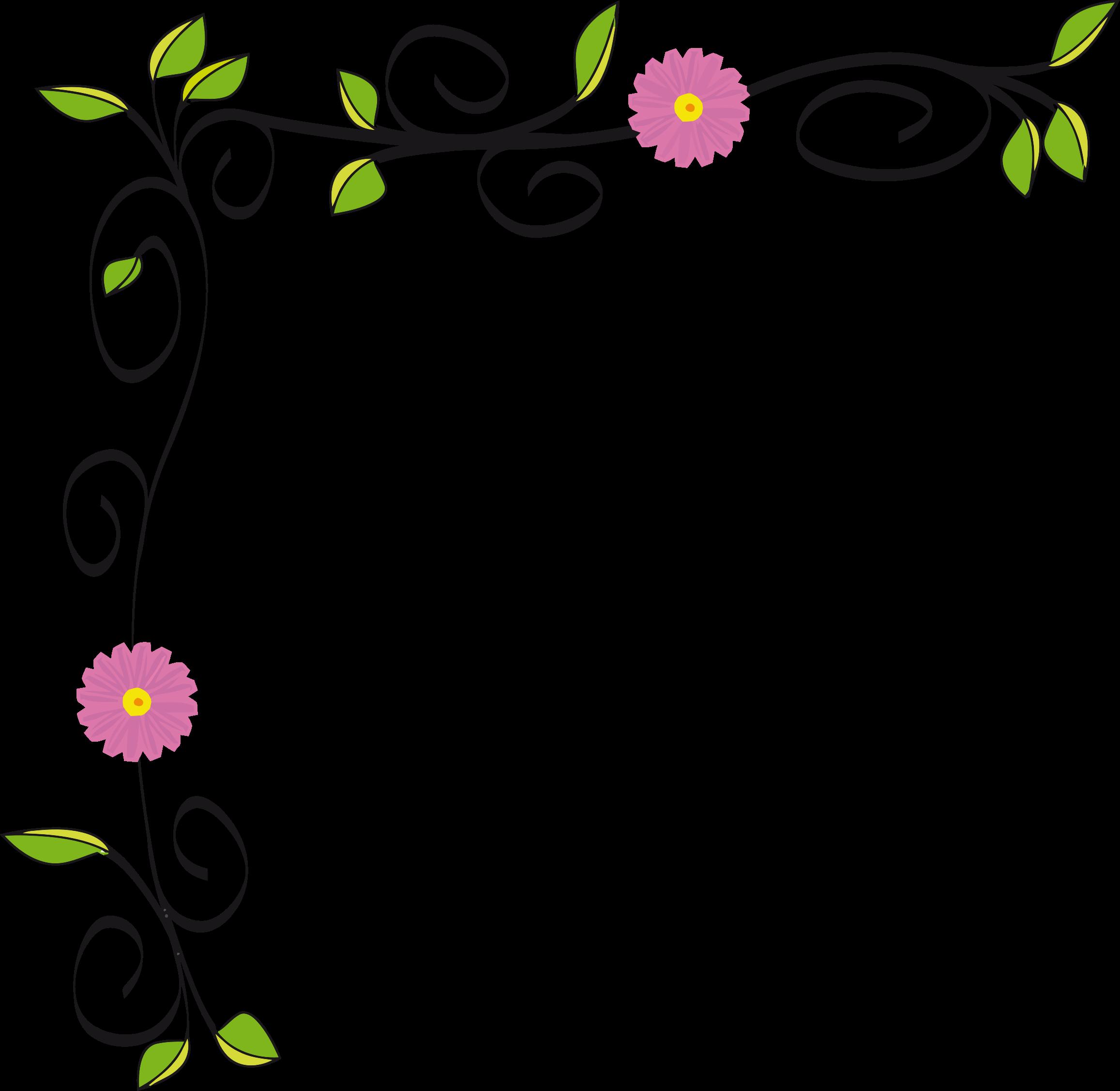 Border designs clipart clip transparent Floral Border Vectorized by GDJ   Cabinets   Flower border clipart ... clip transparent