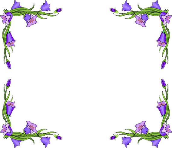 Clipart flowers border jpg stock Free Flower Borders - Flower Border Clipart jpg stock