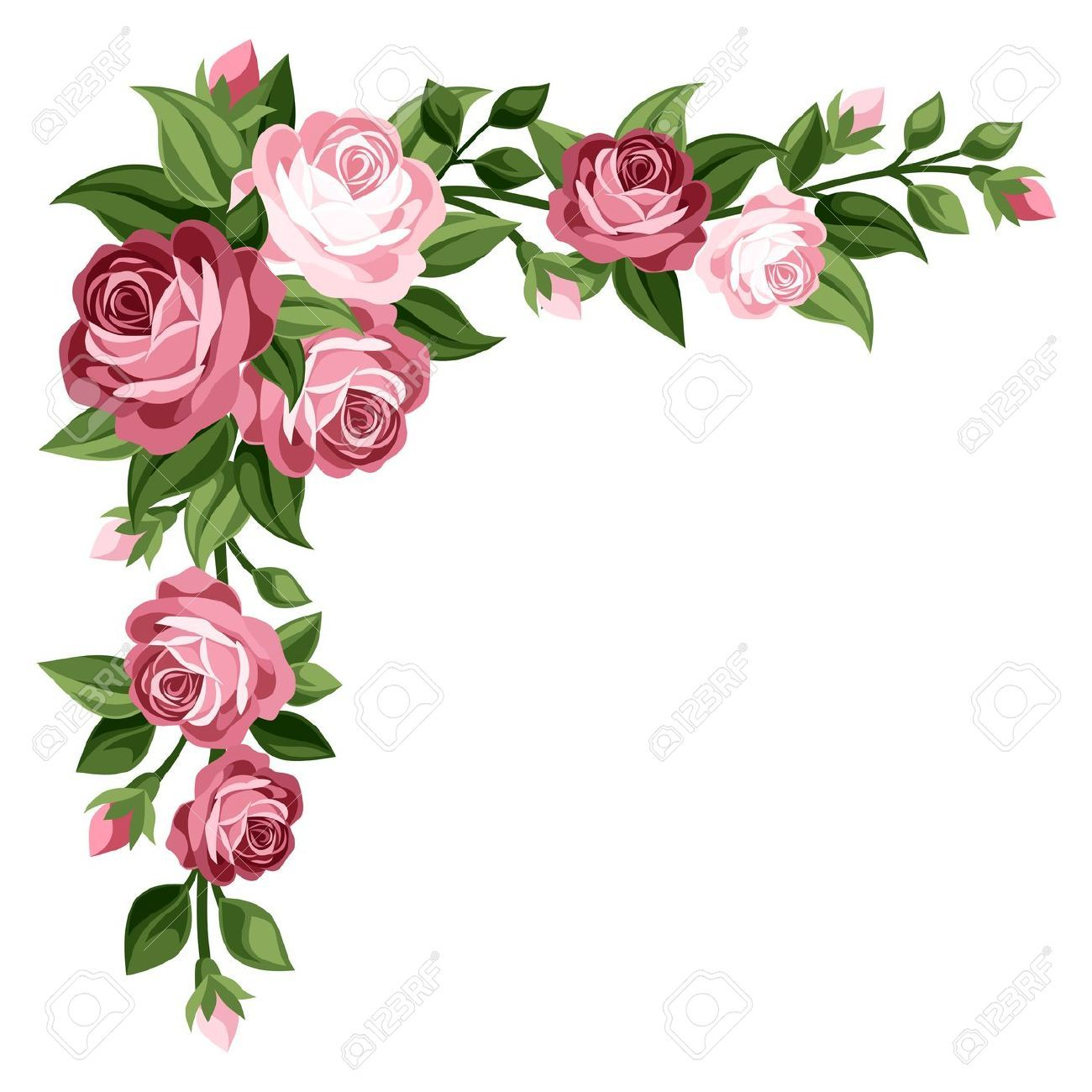 Border flower clipart free Rose Flower Border Clipart | Tags | Flower border clipart, Vintage ... free