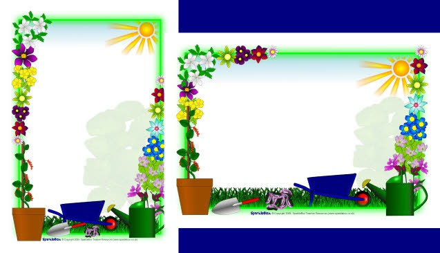 Border gardening clipart clipart black and white download Free Planting Cliparts Border, Download Free Clip Art, Free Clip Art ... clipart black and white download