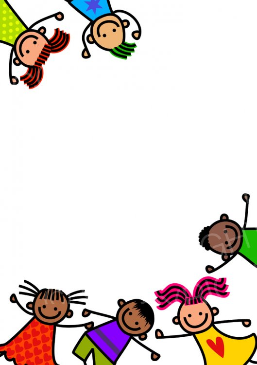 Border kids clipart graphic stock Cute Doodle Border Kids – Prawny Clipart Cartoons & Vintage ... graphic stock