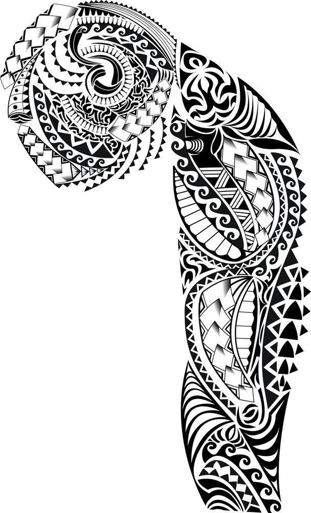 Border tattoo polynesian clipart clip art free download Pattern Clipart Samoan - Tribal Tattoos Sleeve Designs (#1569076 ... clip art free download