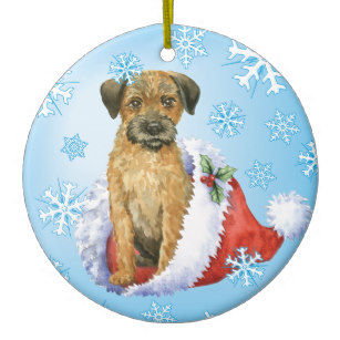 Border terrier christmas clipart svg transparent library Happy Howliday Border Terrier Christmas Ornament svg transparent library