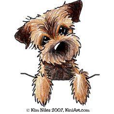 Border terrier christmas clipart clipart black and white download Border Terrier.   art in 2019   Border terrier, Dog paintings ... clipart black and white download