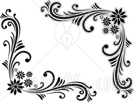 Borders and patterns clip art clip art black and white download Black And White Flowers Borders Clipart - Clipart Kid clip art black and white download