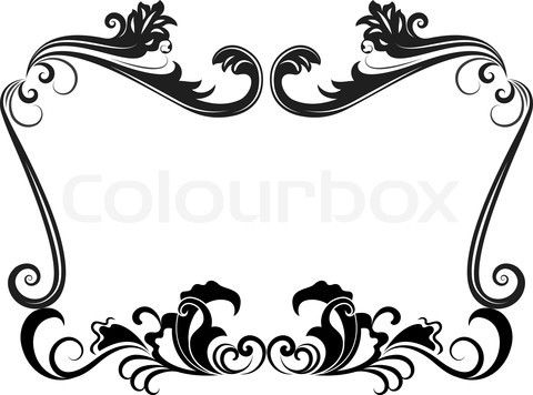 Borders and patterns clip art picture library download Vintage circus Clip Art Borders | Stock vector of 'Black and white ... picture library download