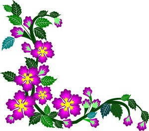 Borders and patterns clip art picture stock purple flower corner clipart border design 2015-16 | border design ... picture stock