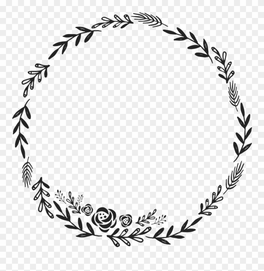 Borders circle leaves clipart png library library Border Frame Wreath Circle Round Fleaves Floralwreath - Floral ... png library library