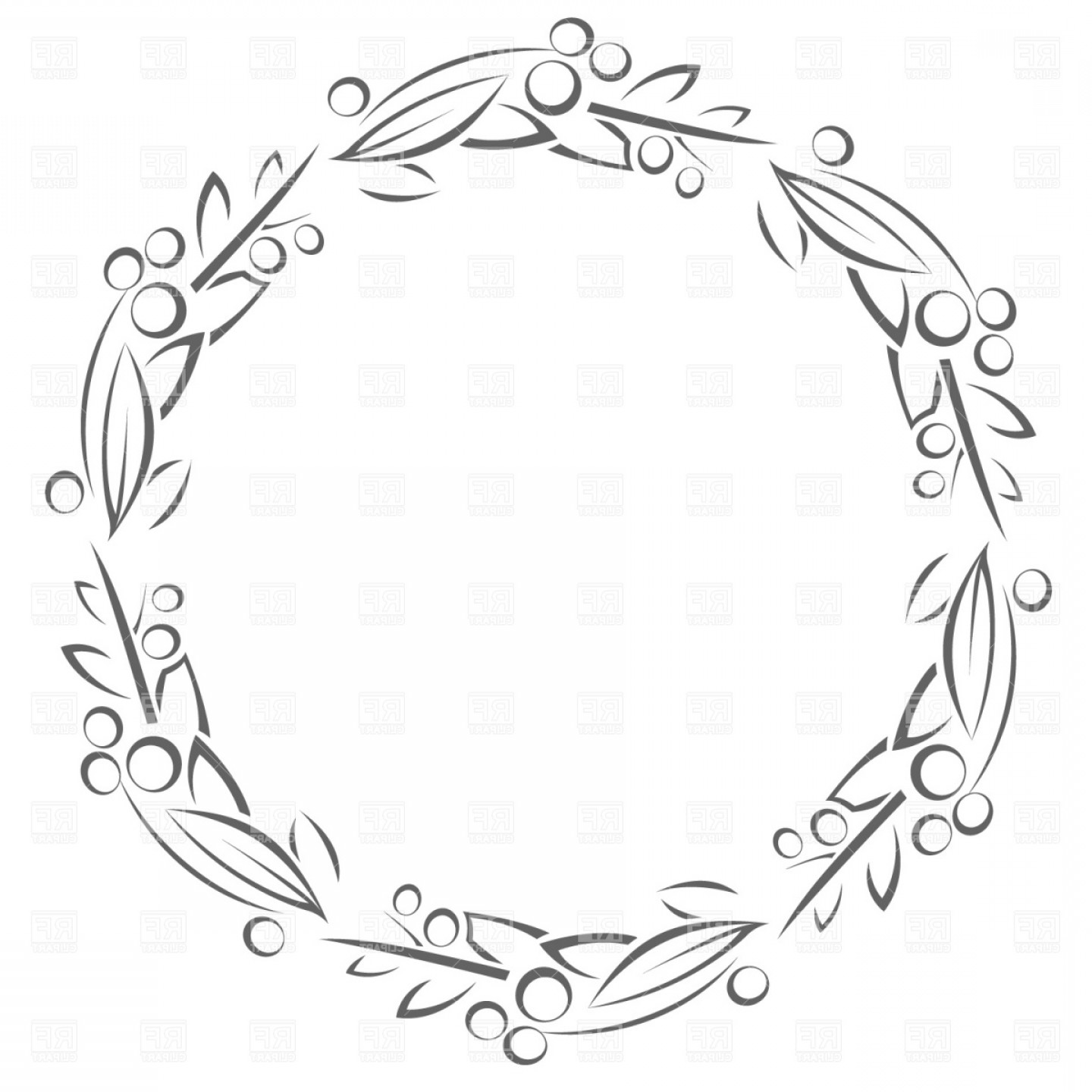 Borders circle leaves clipart graphic transparent library Circle Frame With Leaves Vector Clipart | SOIDERGI graphic transparent library