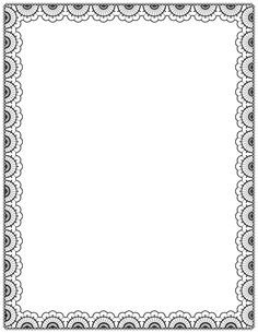 Borders for free download png black and white download Free Printable Star Border | Black and White, high contrast stars ... png black and white download