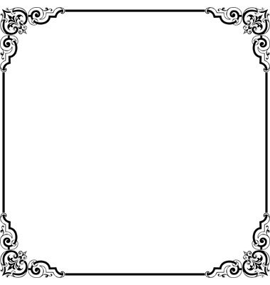 Black border frame clipart free picture transparent Elegant Border Frame | Clipart Panda - Free Clipart Images | Blank ... picture transparent