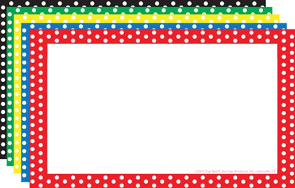 Free polka dot border clipart. Design templates for word