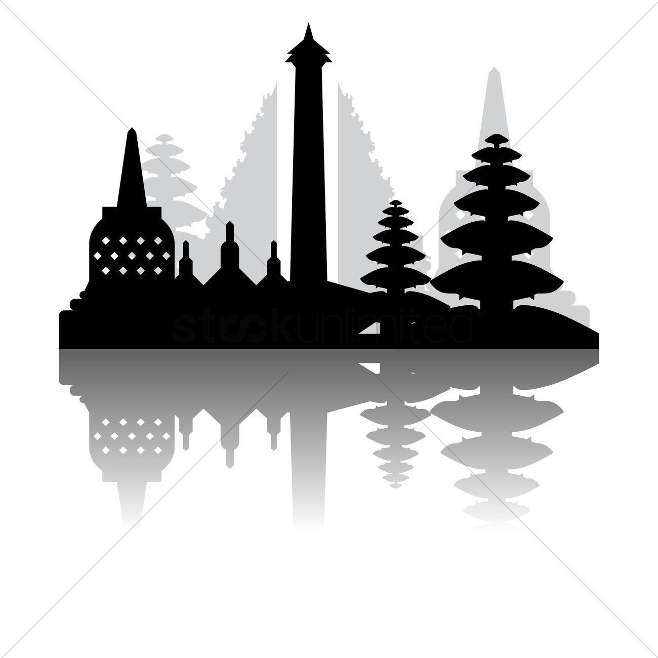 Borobudur clipart clipart transparent Borobudur clipart black and white 7 » Clipart Portal clipart transparent