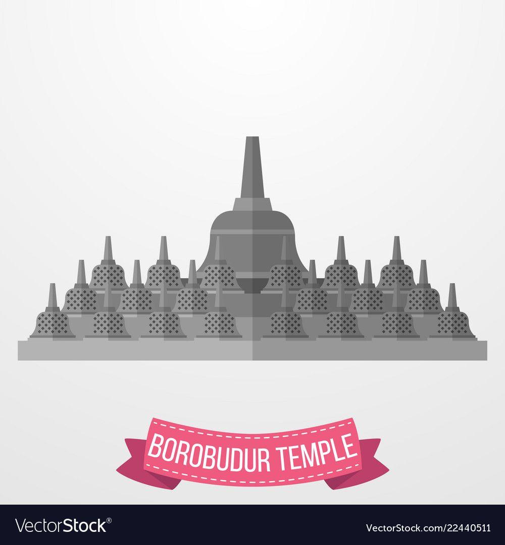 Borobudur clipart svg royalty free Borobudur temple icon on white background Vector Image   Clipart ... svg royalty free