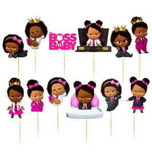 Boss baby black girl clipart clip freeuse stock Details about XL BLACK BOSS BABY CUPCAKE CAKE TOPPER party AFRO balloon  shower GIRL BANNER clip freeuse stock