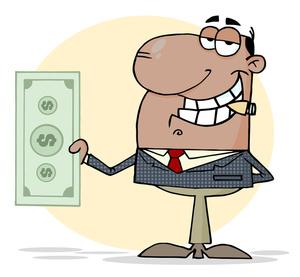Boss images clipart svg royalty free Boss Clipart Image - Big Boss Man Flashing His Cash svg royalty free