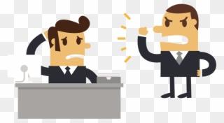 Boss man clipart jpg royalty free library Businessman Cartoon Boss Man Angry At An Employee - Boss Cartoon Png ... jpg royalty free library
