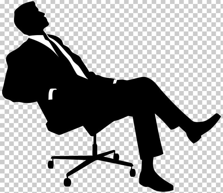 Boss man clipart clip stock Chair Silhouette Sitting PNG, Clipart, Black, Black And White, Boss ... clip stock