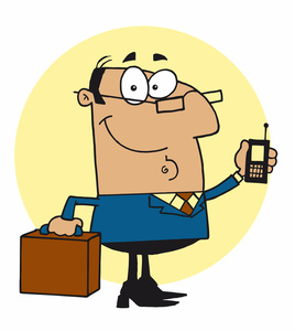 Boss on phone clipart vector library library Boss Clipart Image - Successful Businessman Talking on His Cell Phone vector library library