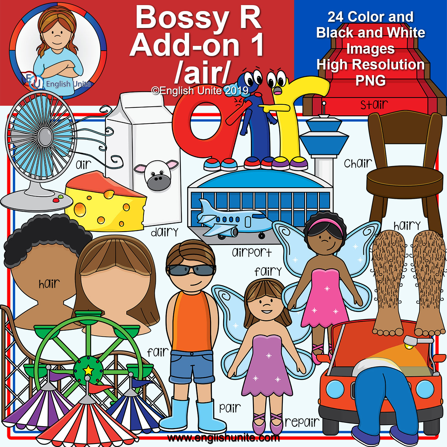 Bossy r clipart transparent download Clip Art - R Controlled Vowels - Bossy R Add-On Pack 1 (AIR) transparent download