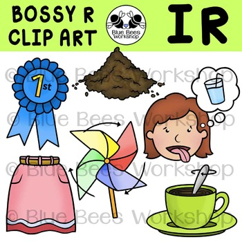 Bossy r clipart graphic stock R-Controlled Vowels Clip Art - IR graphic stock
