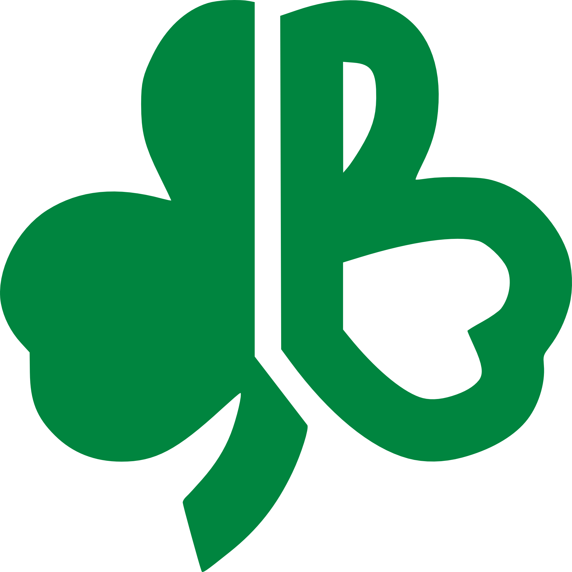 Boston celtics basketball clipart clip art free stock Vintage 1970's Boston Celtics clover shamrock capital B logo | 70's ... clip art free stock