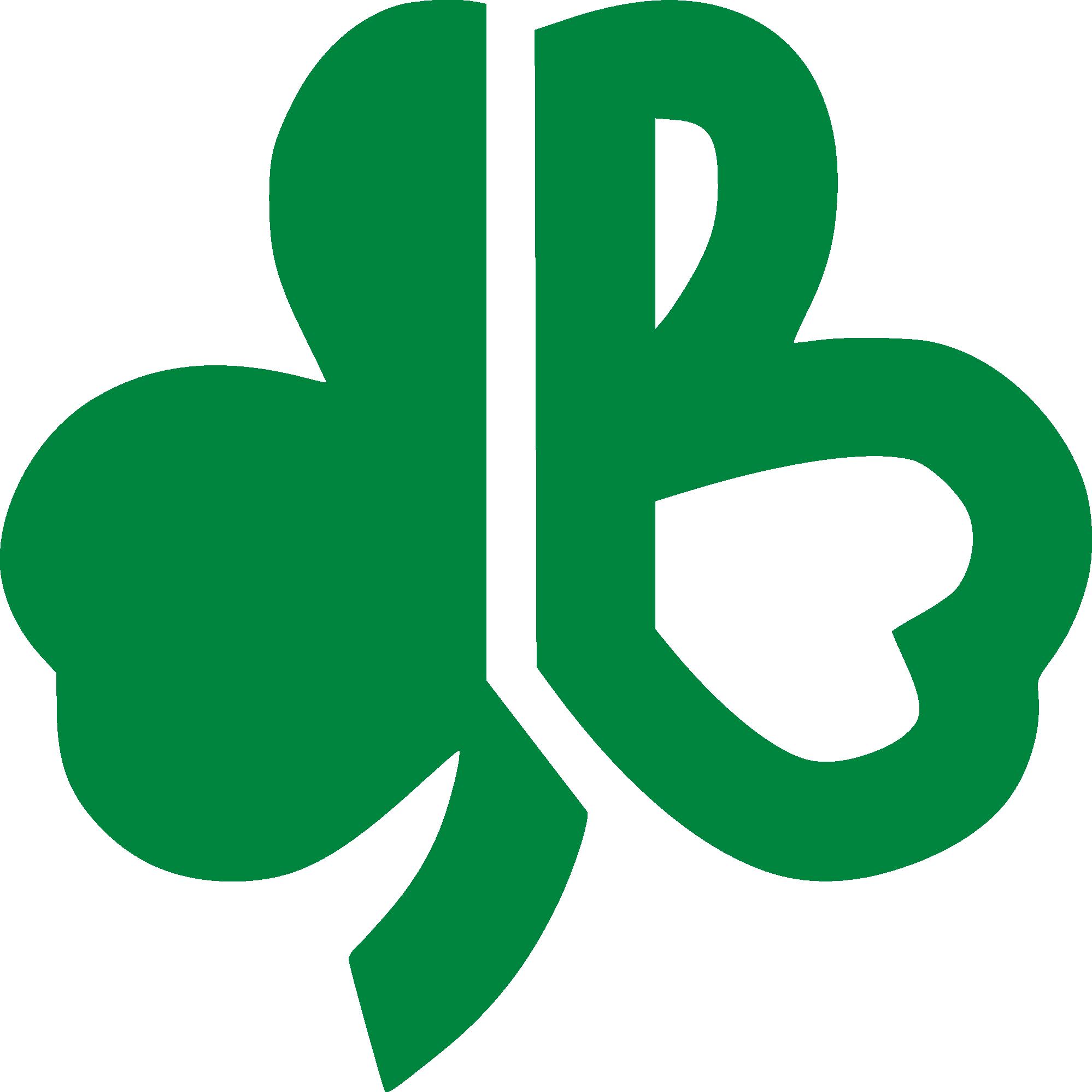 Boston celtics basketball clipart clip art free stock Vintage 1970's Boston Celtics clover shamrock capital B logo | 70's ... clip art free stock
