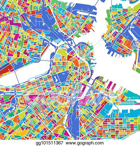 Boston map clipart picture free stock Vector Art - Boston colorful vector map. EPS clipart gg101511367 ... picture free stock