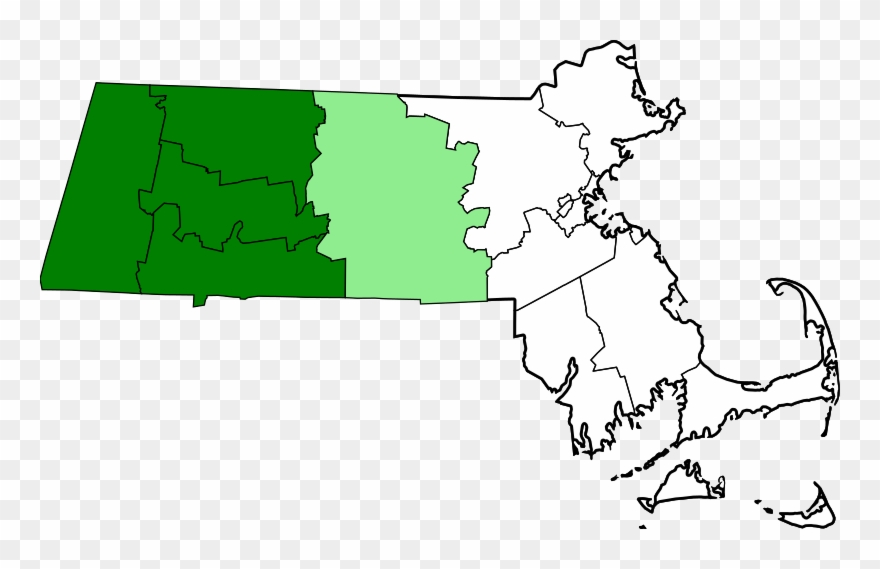 Boston map clipart picture transparent Map Of Massachusetts Highlighting Western Counties - Boston ... picture transparent