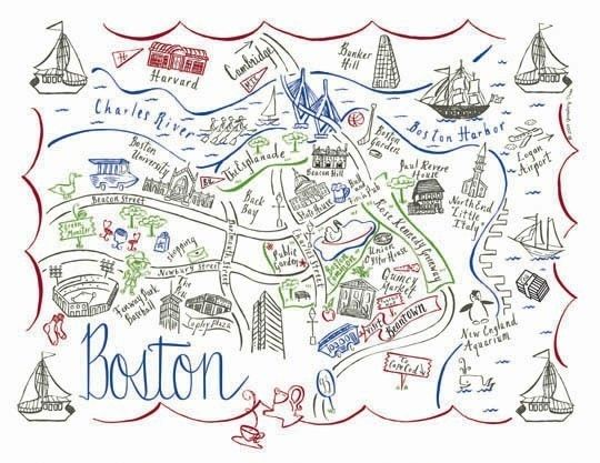 Boston map clipart jpg royalty free stock Boston City Map 4 Color Note Card | art and design | Boston map, Map ... jpg royalty free stock