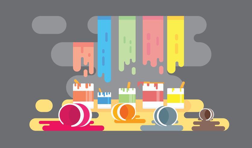 Bote y brocha vector clipart clipart transparent download Ilustración colorida del vector del fondo del pote de la pintura ... clipart transparent download