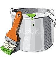 Bote y brocha vector clipart clip royalty free download Bote DE Pintura Con Pincel vectores en stock - Clipart.me clip royalty free download