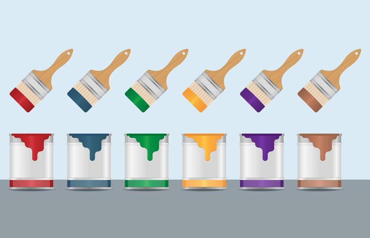 Bote y brocha vector clipart banner transparent Vectores coloridos de pintura y pincel - Descargue Gráficos y ... banner transparent