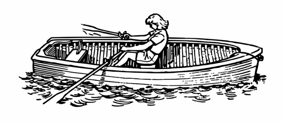 Botee clipart royalty free Ferry Clipart Bote - Row Boat Clipart Black And White Free PNG ... royalty free